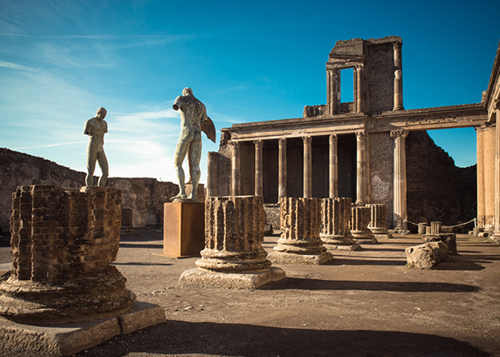 Former temple of ancient Pompeii