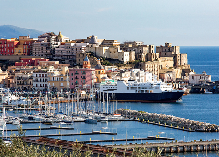 Pozzuoli harbor and old town, Naples, Italy
